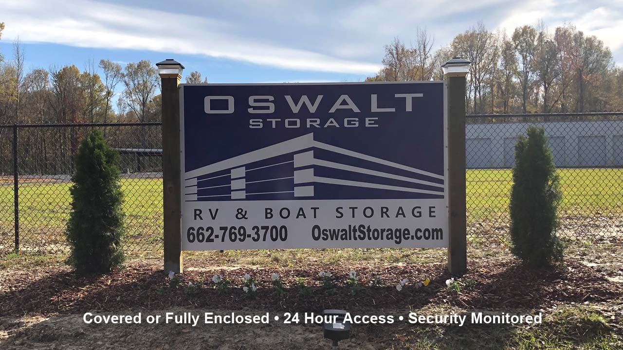 Oswalt Storage Signage
